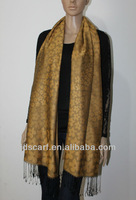 raw silk shawl JDPS-006# polpular crimson 70% Viscose silk polpular scarves