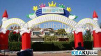 Beautiful inflatable wedding ceremony arch :inflatable arch balloon for sale