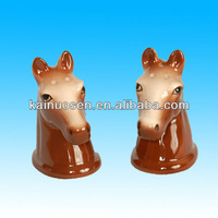 Ceramic Heads Horse Salt and Pepper Shakers