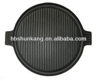 36 cm Cast Iron Non-Stick BBQ Grill With Two Steel Handle