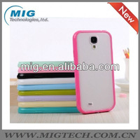 for galaxy s4 i9500 ,TPU Bumper and PC matte back cover