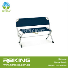 Durable Folding Camping Bench with Backrest
