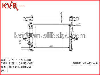 best price volvo c70 2.0 t98 alumunim radiator for oem 8601433