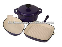 cast iron blue enamel cookware tool/set