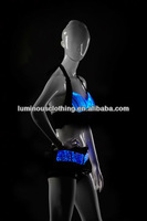 New Colorful Women's LED RGB Luminous Bodice Sexy Halter Neck Stage Dance Party Bra Erotic Club Wear Dancing Costumes