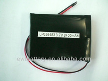 LP656483 8400mAh 1s2p 3.7v li polymer battery pack