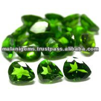Chrome Diopside 5x4mm Pear Cut Natural Calibrated Stones