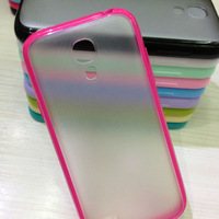 pc+tpu bumper 2 in 1 hard case for samsung galaxy s4 mini