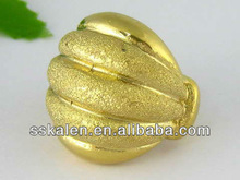 Fashion Mens Finger Jewelry Covered Gold Ring