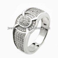 2013 calendar best selling silver ring,micro pave diamond ring
