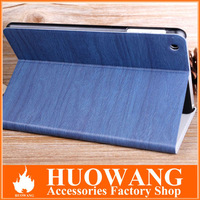 wood series leather cover for ipad mini smart cover