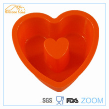 4 color 3D feel heart shape silicone cake mold