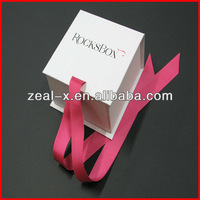 First choice simply design jewelry package folding gift boxes with hot pink ribbon