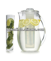 BPA free 93oz juice pitcher with fruit infuser (SH25)