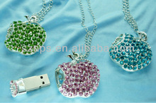 Apple shape jewel USB Flash for necklace