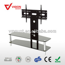 "F06 High quality Modern desgin tempered glass tv stand -37""-60""inch"