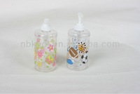 plastic shampoo bottle with printting water replenishing