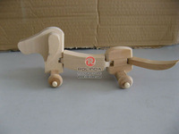 Exquisite wooden dog toys for children
