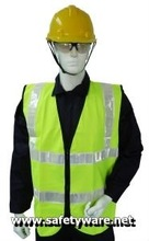 Safety Vest, Polyester High Visibility Safety Vest, Polyester High Visibility Safety Vest (Yellow)