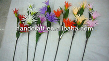3 heads artificial Pineapple flowers long stem torch