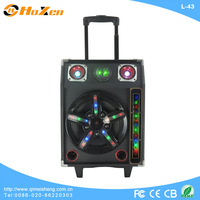 trolley outdoor portable USB speaker with sd card reader slot,fm radio,guitar input
