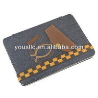 Blue Jeans Denim Folio Leather Tablet Case Cover Stand Magnetic Auto Sleep Wake for Apple iPad mini