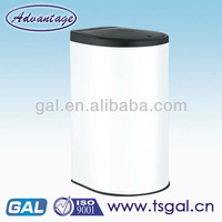 hand press type stainless steel trash can