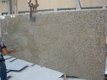 Brazil Yellow Granite Giallo Veneziano Granite Kitchen Countertops flat edge