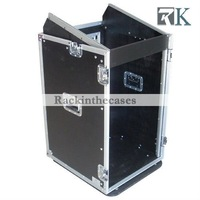 Portable DJ Cases 10U Slant Mixer Rack/16U Vertical with Caster Board