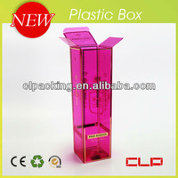 Customized corrugated plastic folding box for retail