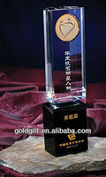 2014 newest crystal award trophy for anniversary excellent star