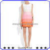 ice cream color sundress two-way zip mini woven twill dress