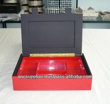 Black and Red Lacquer Make-up and Jewel Boxes