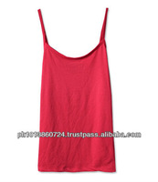 BRIGHT PLAIN FITTED TANK TOP FOR GIRLS /WOMEN 100% COTTON
