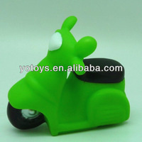 Motorbike shape baby products squeaky bath toy