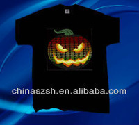 Wholesale party wear cool fashion light up LED flashing T-shirts for all party