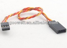Twisted Futaba and JR servo extension wire for radio control toys