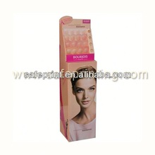 good quality corrugated cardboard a4 rotating display stand