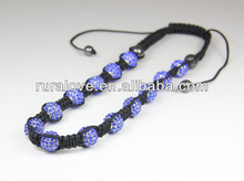 New arrival long style adjustable shamballa crystal Necklace