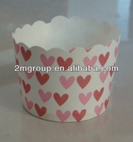 Heart Printed Muffin cups/Souffle paper baking cups