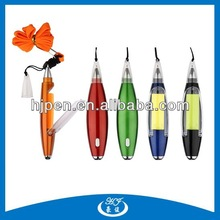 Hot Selling New Design Plastic Lanyard Ballpen With LED Light