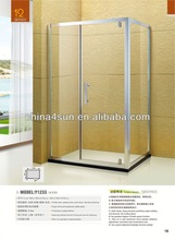 6-12mm Glass Thickness And Brushed Frame Surface Finishing Shower Room For Hotel Project