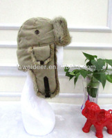 children rabbit fur hat for winter