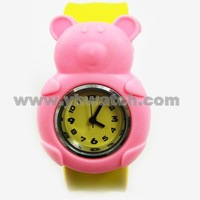 cartoon pink pig watches for kids wholesale kids slap watches