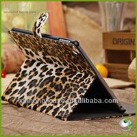 Leopard pattern stand case cover for ipad air 5,for ipad 5 leathe cover