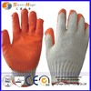 7 gauge cottonpolyester orange rubber work gloves