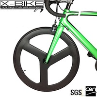 Performance aerospace high stiffness fixed gear carbon track bike spoke wheel set
