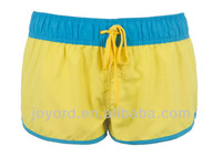 Sexy swimming wear yellow women short board shorts