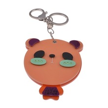 2013 Hot sale lovely bear mirror Keychain ,Keyring Bag and Purse Charm