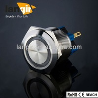 variety of colors led 12 volt metal push button switch,latching/momentary push button